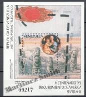 Venezuela 1992 Yvert BF 36, Seville Expo '92, 500th Ann. Discovery Of America - MNH - Venezuela