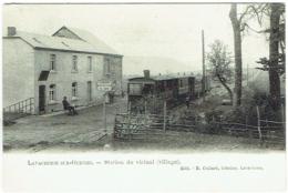 La Vacherie-sur-Ourthe. Station Du Vicinal (village). Train - Sainte-Ode