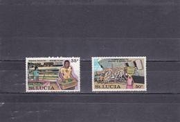 Sainte Lucie Neuf  1973  N°  338/339  Industrie De La Banane - St.Lucia (1979-...)