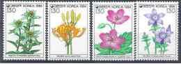 1994 COREE SUD 1655-58** Fleurs - Korea, South