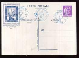 ENTIER BOURSE PHILATÉLIQUE JUIN 1937 - Cartes Postales Types Et TSC (avant 1995)