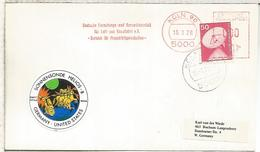 ALEMANIA KOLN 1976 FRANQUEO MECANICO TEMA ESPACIO SPACE HELIOS 8 - Cartas