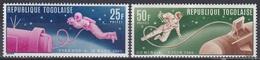 Togo 1965 Weltall Weltraum Kosmos Space Raumfahrt Astronautic Astronauten Kosmonauten Leonow Wight Gemini, Mi. 487-8 ** - Togo (1960-...)