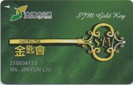 Carte De Membre Casino : SJM Gold Key Club Macau Macao - Cartes De Casino