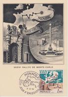 FDC MONACO : RALLYE DE MONTE CARLO 1964 - Cars