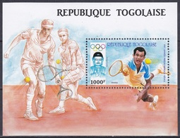 Togo 1987 Sport Spiele Olympia Olympics IOC Seoul Tennis Vorolympisches Jahr Buddha Buddhismus Statuen, Bl. 298 ** - Togo (1960-...)