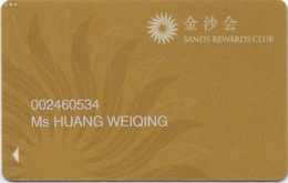 Carte De Membre Casino : Sands Rewards Club 金沙会 Macau Macao - Cartes De Casino
