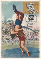 D35966 CARTE MAXIMUM CARD TRIPLE 1980 RUSSIA - WRESTLING OLYMPICS MOSCOW CP ORIGINAL - Wrestling