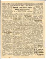 Tract Authentique Années 40 - PARTI COMMUNISTE FRANCAIS - UNION ET ACTION Pour La VICTOIRE Des  REFRACTAIRES Aux S.T.O. - Documents Historiques