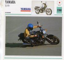Yamaha XJ 650   -  1980  - Moto De Tourisme   -  Fiche Technique/Carte De Collection - Motorbikes
