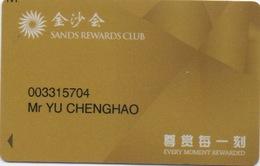Carte De Membre Casino : 金沙会 Sands Rewards Club 尊賞毎一刻 Macau Macao - Cartes De Casino