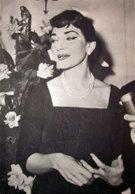 CALLAS 1958 IMMAGINE DA CARTACEO D'EPOCA PICTURE OF VINTAGE PAPE - Immagine Tagliata