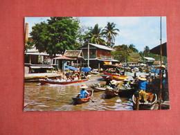 Thailand Floating Market Near Bangkok  Machine  Stamp Cancel  Ref 3146 - Thailand