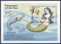 Sierra Leone 1996 Seefahrt Seafare Seemannsgarn Yarn Sagen Legenden Myths Meerjungfrau Mermaid Tiere Dugong, Bl. 325 ** - Sierra Leone (1961-...)