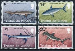 Tristan Da Cunha 1982 Complete Set Of Stamps Commemorating Sharks. - Tristan Da Cunha