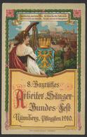 "EP Illustré Au Type 5 Peenning Green ""Sängerbundesfest Nürnberg (1910)""  / Thematic Musik (music), Traveled - Allemagne"