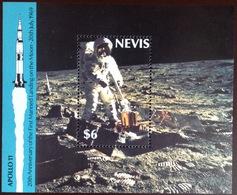 Nevis 1989 Moon Landing Anniversary Minisheet MNH - St.Kitts En Nevis ( 1983-...)