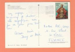 VATICAN N° 514 SUR CARTE POSTALE ROMA ARC DE COSTANTIN ET COLISEE - Vatican