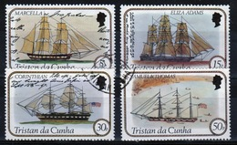 Tristan Da Cunha 1982 Complete Set Of Stamps Commemorating Sailing Ships 1st Series. - Tristan Da Cunha
