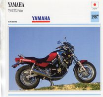 Yamaha 750 FZX Fazer   -  1987  - Moto De Tourisme   -  Fiche Technique/Carte De Collection - Motos
