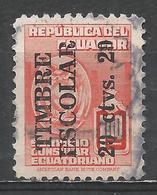 Ecuador 1951. Scott #RA60 (U) Consular Service Stamp * - Equateur