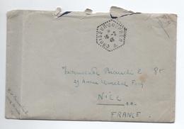 """1946 - ENVELOPPE FM Avec CACHET """"CROISEUR SUFFREN"""" - Marcophilie (Lettres)"""