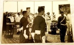 Antigua Fotografía Militar - Soldados, Ejercito Español, Ceremonia - IFNI / Fotografía Original - 9x14cm - Guerra, Militares