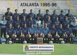 CARTOLINA - POSTCARD - BERGAMO - SQUADRA DI CALCIO ATALANTA 1995 - 96 - Bergamo