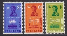 Falkland Islands 1962 Radio Communications 3v ** Mnh (41748B) - Falklandeilanden