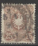 Deutsches Reich 43 Plattenfehler IV O - Used Stamps