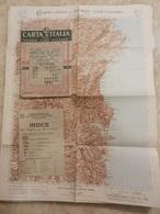 6) SARDEGNA NUORO FOGLIO 40 CARTA D'ITALIA DEL TOURING CLUB COMPLETO DI INDICE E BUSTA - Geographical Maps