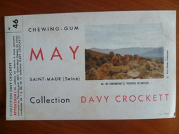 Buvard  Chewing-gum  MAY  Collection DAVY CROCKETT  N° 46 - Buvards, Protège-cahiers Illustrés