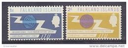 Falkland Islands 1965 ITU 2v ** Mnh (41749) - Falklandeilanden