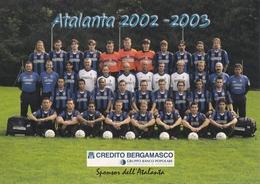 CARTOLINA - POSTCARD - BERGAMO - SQUADRA DI CALCIO ATALANTA 2002 - 2003 - Bergamo