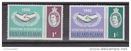 Falkland Islands 1965 ICY 2v ** Mnh (41749A) - Falklandeilanden