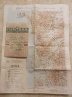 6) SARDEGNA ORISTANO FOGLIO 39 CARTA D'ITALIA DEL TOURING CLUB COMPLETO DI INDICE E BUSTA - Cartes Géographiques