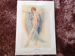 ART DESSINS PEINTURE ILLUSTRÉS S.MEUNIER FEMME NUS PIN-UPS ILLUSTRATREUR EROS 6/1925 LE CHÂLE VERT VOIR IMAGES - Andere Sammlungen