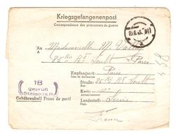 KRIEGSGEFANGENENPOST PRISONNIER 1945 ANDRÉ BOULEZ N° 43178 STALAG IX B 18 - VALLEY PARIS - Marcophilie (Lettres)
