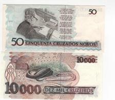 B22 - BRESIL Lot De 2 Billets - Brésil