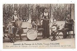 DIJON (cpa 21) Souvenir Du Passage De La Troupe FALLONE, Plus Petit Jazz De L'époque, Accordéoniste De 7 Ans   -  L 1 - Dijon