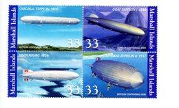 Marshall Islands-2000-Zeppelins -YT 1312/15***MNH - Zeppelins