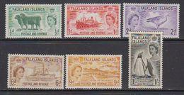 Falkland Islands 1955-1957 Pictorials 6v ** Mnh (41749) - Falklandeilanden
