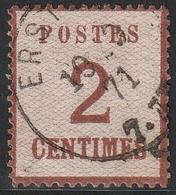 ALSACE LORRAINE N° 2 Oblitération Erstein 1871 - Alsace-Lorraine