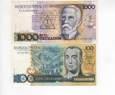 B23 - BRESIL Lot De 2 Billets - Brésil