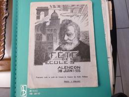 Programme Fête Des Ecoles à Alençon Le 30 Juin 1935 - Programme