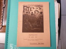 Programme Fête Des Ecoles à Alençon Le 20 Juin 1937 - Programme