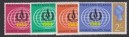 Falkland Islands 1968 Human Rights Year 4v ** Mlnh (41749A) - Falklandeilanden