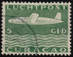 ~~~  Curacao 1947 - Airmail 5 Gulden  - NVPH LP84 (o) ~~~ - Curaçao, Nederlandse Antillen, Aruba