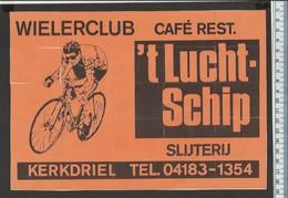 WIELERCLUB 'T LUCHTSCHIP KERKDRIEL VéLO BICYCLES FIETSER COUREUR FAHRRAD CYCLISME PUZZLE Dutch Matchbox Labels - Boites D'allumettes - Etiquettes
