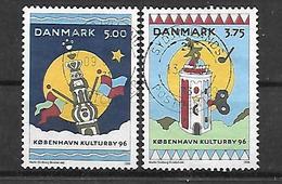 Dänemark  1996 Mi 1116/1117 Kopenhagen Kulturhauptstadt Europas 1996  Gestempelt - Dänemark